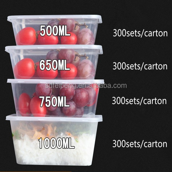 Takeaway rectangle food container