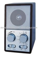 AM/FM Wooden Radio with Audio Line in (3.5MM Jack) , CE/Rohs Approval, Mini Wooden Radio