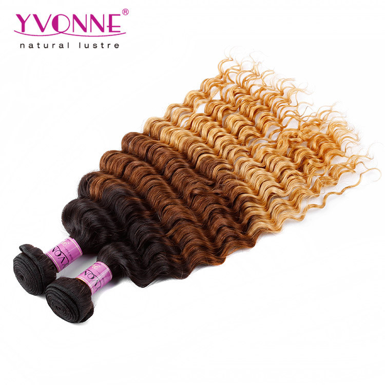 New fashion cheap 100% unprocessed ombre hair extension peruvian human hair