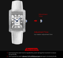 Diamond brand watches four angles classic hand clock for women