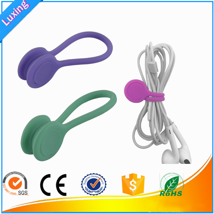 Silicone Earphone Magnetic Cable Winder