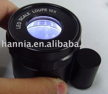 scale loupe with LED 10x