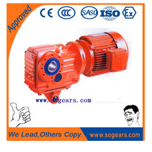 The large radial loading ability for gearmotor reducer