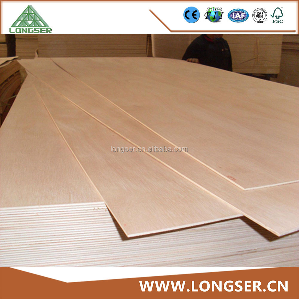 Linyi Longser 4*8ft Thin Thickness E2 Grade Okoume Plywood With Combi Core