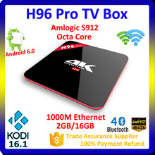 Full Sexy HD Video Download 2.4GHZ/5.8GHZ Dual Band Wifi Kodi 16.1 Tv Box S912 Android 6.0 Tv Box