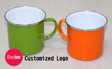 Promotional Customized Printed Enameled Mug 12oz & 20oz enamel mug