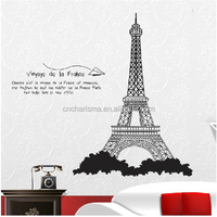 The Eiffel Tower design pvc wall sticker for room decoration customized designs is acceptable