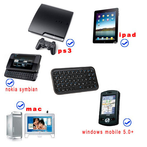 Mini wireless bluetooth 3.0 Slim keyboard for iphone ps3 Windows mobile cell phone tablet PC Accessories Free Shipping wholesale