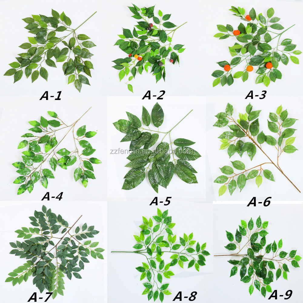 factory supply kinds of cheap wholesale artificial leaves