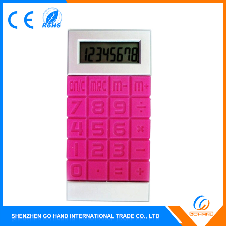 New Products Gifts Ultrathin Dual Power 8 Digits Silicone Flexible Calculator