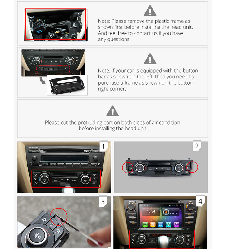 Eonon GA7165S for BMW E90/E91/E92/E93 Android 6.0 Quad-Core 7inch Multimedia Car DVD GPS with Mutual Control EasyConnection