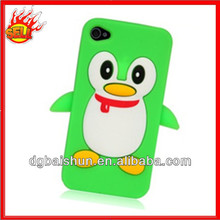 Little Cute Q Green Silicone Cellphone Cover For Iphone 4(BS-01-64)