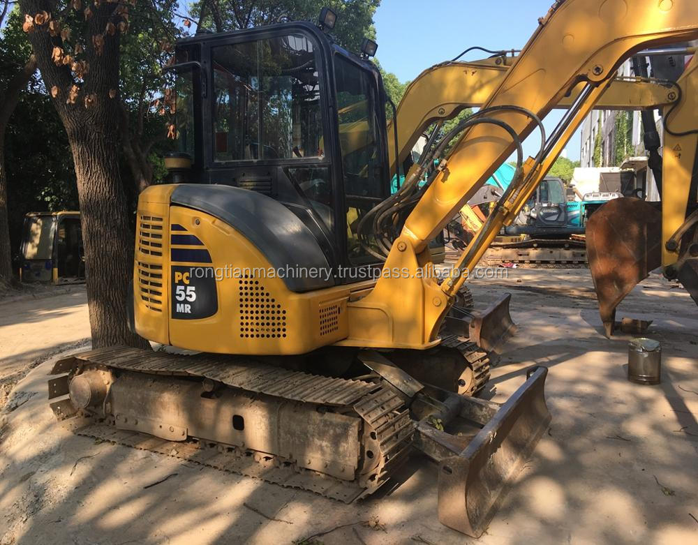 Running condition 5t Japanese used komatsu PC55 excavator for sale in Shanghai site