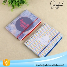 2017 Hot Sale Spiral Custom PP Agenda Notebook with Stickers