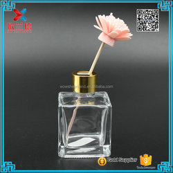 100ml Water Cube square aromatherapy diffuser glass bottle with screw lid