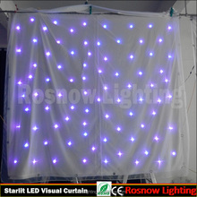Led starlit cloth with RGB 3in1 or RGBW single color IRC DMX control safety light curtain for background decoration
