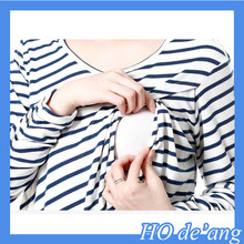 New Design Short Sleeve Maternity Breastfeeding Clothes Nursing Tops