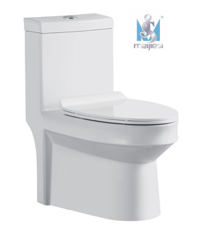 MJS-255 New design Double hole Cyclone One piece Toilet