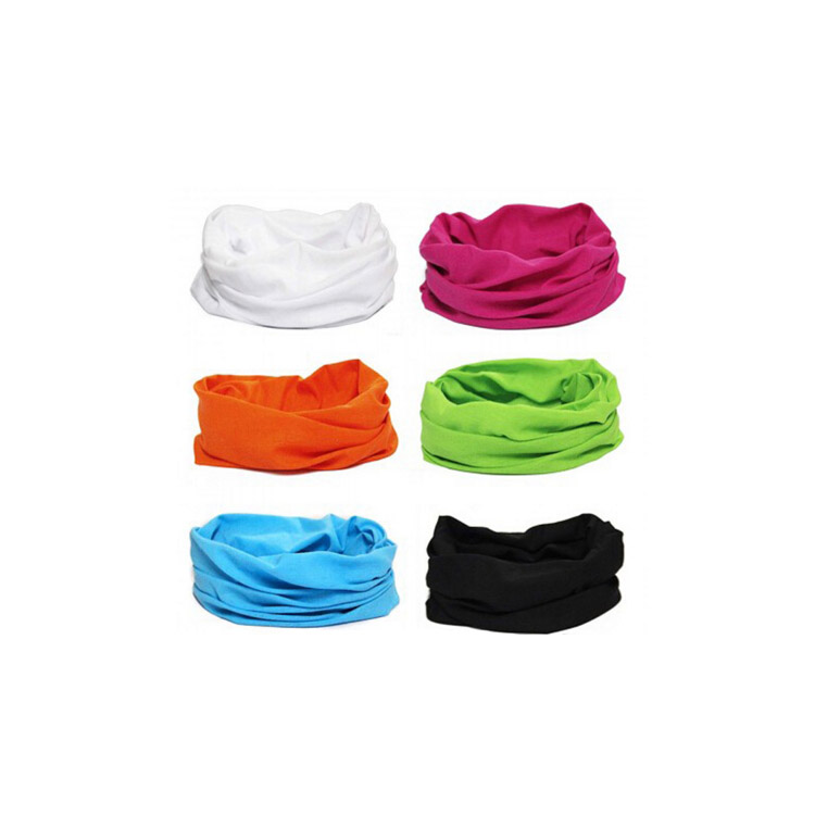 <strong>100</strong>% polyester multifunctional wholesale custom fashion popular breathable solid color bandana