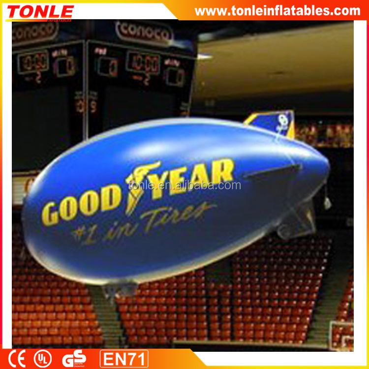 custom made inflatable pvc airship/helium blimp outdoor/inflatable blimp for sale