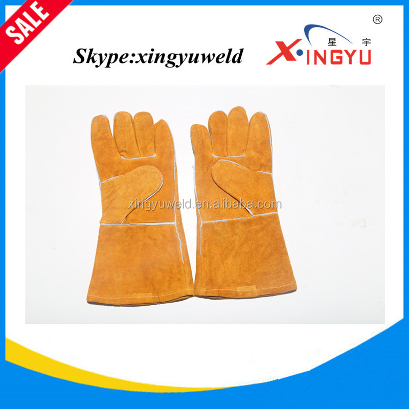 Long Yellow TIG Welding Cowgrain Leather glove Best Selling
