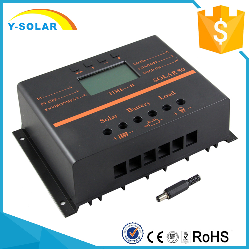 SUNYOBA 80A PWM Solar system Controller Light and Timer 5V USB for 12V 24V solar Panel Battery Charge Controller Indoor Use S80