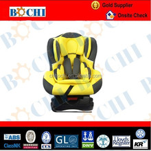 light yellow and black baby car seat for 0-4 years old with 0-18kg weight