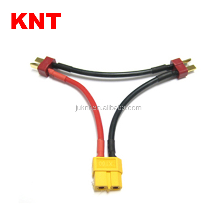 KNT Y Gauge Wire Harness Series Battery Connector XT60 Female to Deans Male Adapter