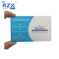 Credit size transparent plastic buisness card with beautiful printing