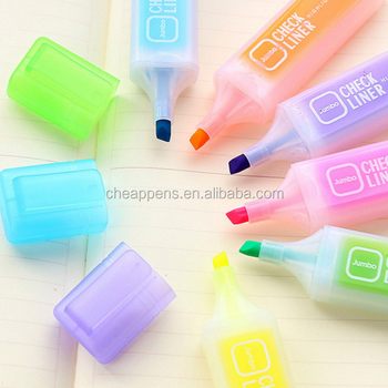 lovely stationery lucid candy color high-capacity fluorescent pen