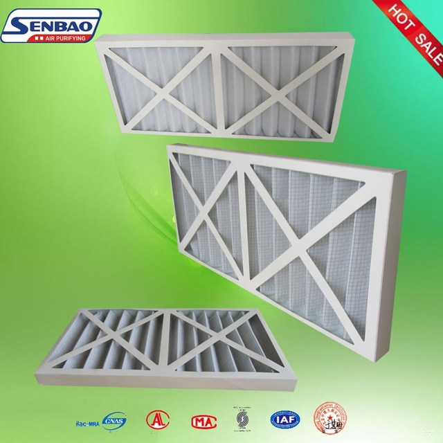 Panel filter/primary cardboard air filter/pleated paper frame filter