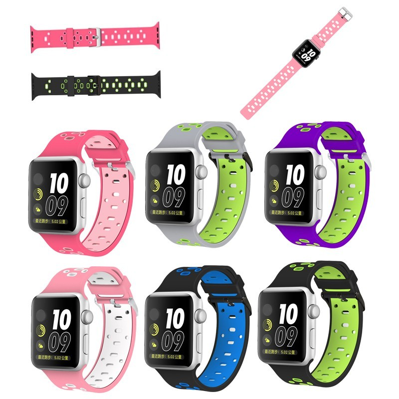 New Arrival Sport Silicone Watch Strap for Apple Watch,for Apple Watch Plastic Wristband