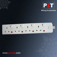 4 Gang Extension Socket BS switch And Socket Manufacturer
