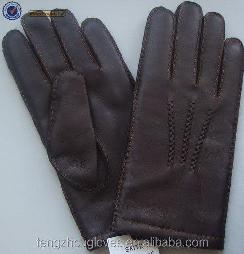 2016 FS classical deer skin leather gloves for men