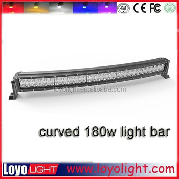 Hot ! 34 inch 180w curved led light bar for 4x4 off road 180w