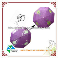 color changing 3 folding umbrella when wet wholesale