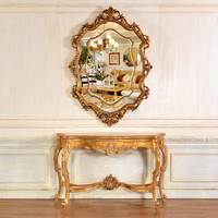 C313+PU706 New Designed Antique Console Wall Table with Mirror