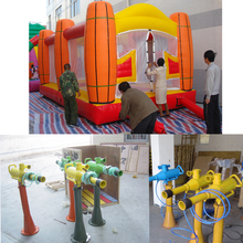 SUNWAY air cannons shoot foam balls ,inflatable air shooter house,inflatable game