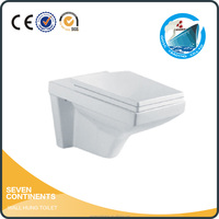Bathroom ceramic wall hung toilets ,Wall-hung portable toilet size 550*390*360mm