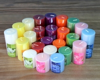 most popular custom made colorful 100% natural wax scented soy candle