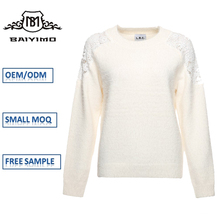 Hot Designer Oem Accept Plain Woolen Sweater New Designs for Ladies Factory in China