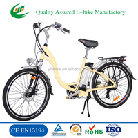 CE high quality lithium battery battery moped 26 inchelectric lady bike electric bicycle electric ebike (TDF01Z)