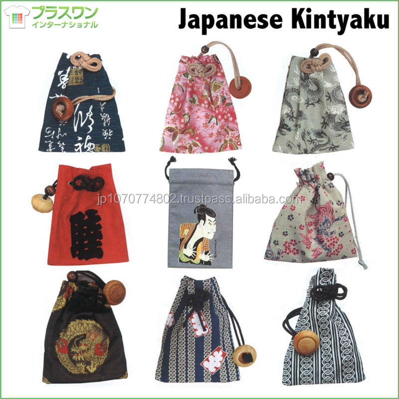 Traditional Japanese design cotton drawstring bag with your logo