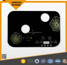 High quality tempered 3 burner gas stove glass top for sale