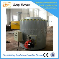 gas-fired crucible type copper scraps graphite crucible furnace
