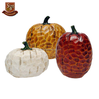 Factory custom made resin carved harvest pumpkins for thanksgiving day