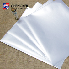 50 mic self adhesive brushed silver PET film with 80 gsm glassine release paper
