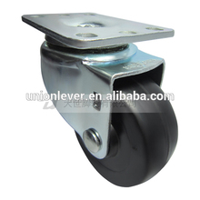 Swivel 3 inch plate type skate wheel casters rubber pu castor cheap casters and wheels