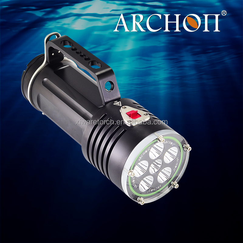 200 meter waterproof Archon diving led flashlight torch, top quality, CE & RoHS certificated, warranty for 2