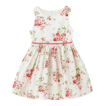 Children <strong>Girl's</strong> Rose Print Cotton <strong>Dress</strong> for Summer